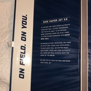 Nike Accessories - NFL NIKE VAPOR JET 3.0 COLTS GLOVES